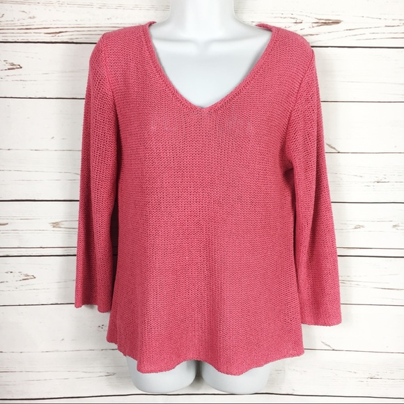 Eileen Fisher Sweaters Sale Silk Pink Vneck Sweater Poshmark